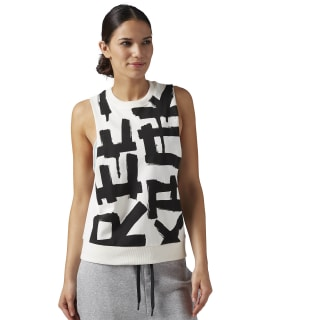 French Terry Muscle Tank White BR2783