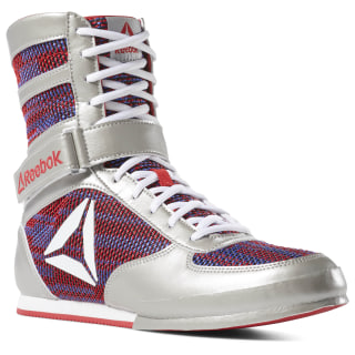 Reebok Boxing Boots Silver/Primal Red/Crushed Cobalt/White DV5100