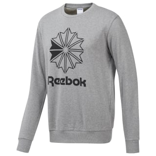 Classics Big Iconic Crewneck Sweatshirt Medium Grey Heather / Rosette / Black EC4525