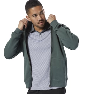 Elements Fleece Full-Zip Hoodie Chalk Green D94205