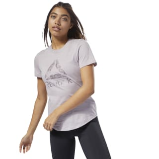 Training Essentials Marble Logo Tee Lavender Luck D95548
