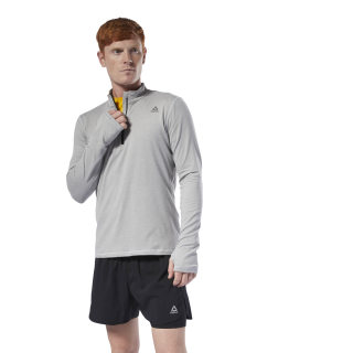 Пуловер Run Essentials Quarter Zip Grey/mgh solid grey DU4272