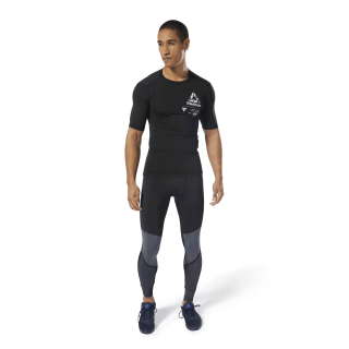 T-shirt de compression à motif Training Black DP6560