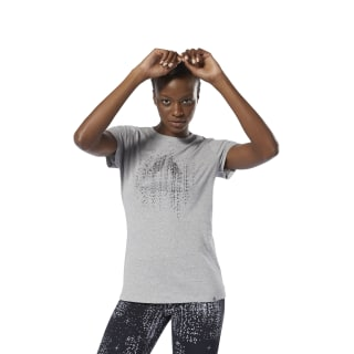 T-shirt à col rond Motion Dot Medium Grey Heather DU4671