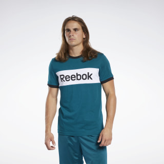 Camiseta Training Essentials Linear Logo Heritage Teal FK6123