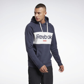 Sweat à capuche avec logo linéaire Training Essentials Heritage Navy FR8127