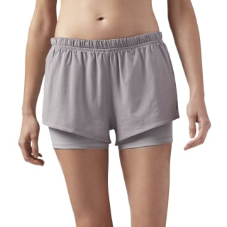 2-in-1 Running Shorts Powder Grey CE4544