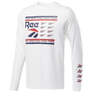 Classics All Over Vector Long Sleeve White DY7867