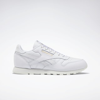 Classic Leather Shoes White / Chalk / Gold DV9631