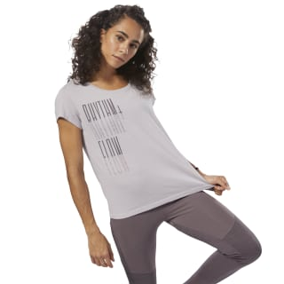 GS Rhythm+Flow Easy Tee Lavender Luck DH3765