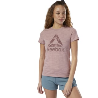 Training Essentials Marble Logo Tee Smokey Rose DU9266