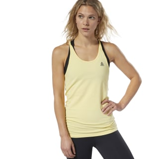 LES MILLS® Skinny Tank Top Filtered Yellow DV2697
