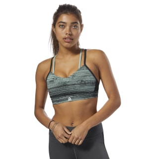 Top deportivo con tiras Reebok Hero Stratified Stripes Industrial Green DM7507