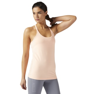 LES MILLS Tank With Built In Sports Bra Pink CE6686
