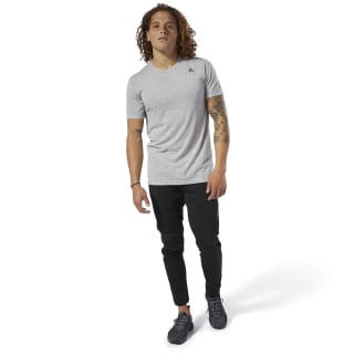 Remera Wor Supremium Ss Tee medium grey heather DP6172