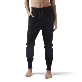 High Waisted Cotton Jogger Black CE2287