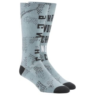 Active Enhanced Printed Crew Socks Teal Fog DU3024