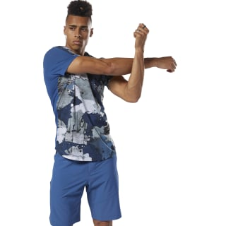 Speedwick Alley Camo Graphic Tee Bunker Blue DN6053