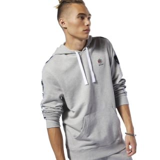 Classics Taped Hoodie Medium Grey Heather DT8156