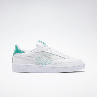 Club C 85 Women's Shoes White / Emerald / Skull Grey FU6868