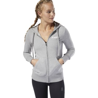 Reebok CrossFit® Hoodie met Rits Medium Grey Heather DU4593