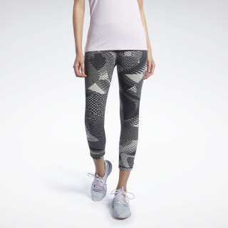 Reebok Lux 3/4 Tight 2.0 – Geo Static Stucco FJ2878
