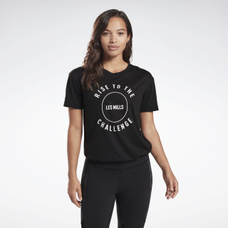 LES MILLS® BODYCOMBAT® Graphic Tee Black FM7147