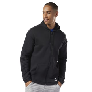 Hoodie de polar con zipper completo Workout Ready Black EC0900