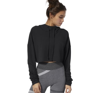 Sweat à capuche court - Danse Black DW8523