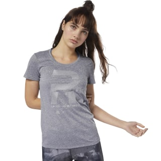 Running Reflective Graphic Tee Grey D78939