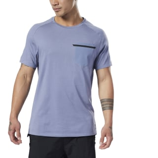 Training Supply Move Tee Washed Indigo EC0725