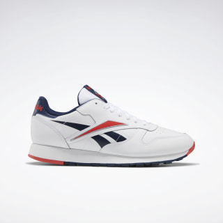 Classic Leather Shoes White / Radiant Red / Collegiate Navy EG6420