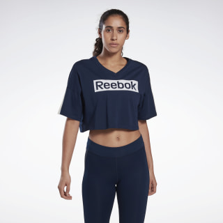 Training Essentials Linear Logo Tee Collegiate Navy FR8152