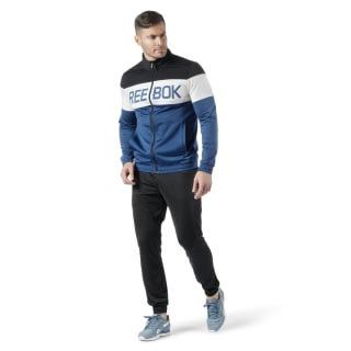 Cuffed Tricot Tracksuit Black / Bunker Blue EJ8625