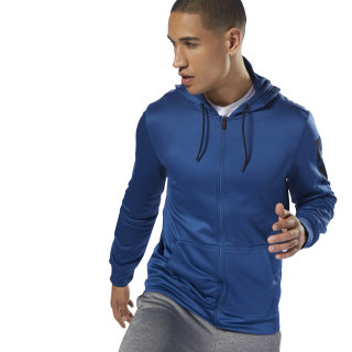 Sudadera con capucha de zipper completo Workout Ready Thermowarm bunker blue D94228