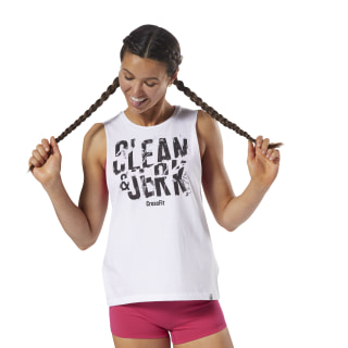 Reebok CrossFit Clean & Jerk Muscle Tank White DH3719