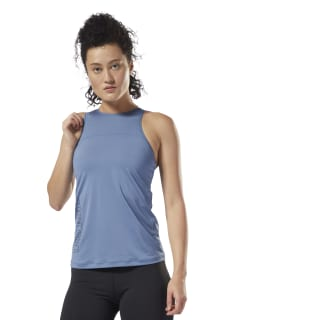 LES MILLS Fitted Long Bra Blue Slate DJ2209