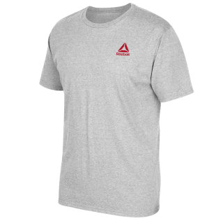 Left Chest Stacked Logo Tee Medium Grey Heather FP8015