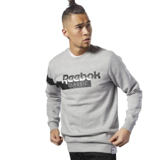 Classics Disruptive Fleece Crewneck Medium Grey Heather DH2064