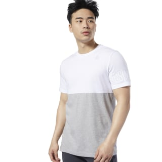 LES MILLS® Tee White / Medium Grey Heather ED0576