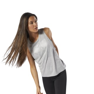 Musculosa GS Shine Delta medium grey heather DH3799