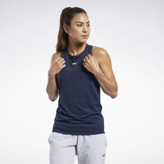 United by Fitness ACTIVCHILL Vent Tank Top Collegiate Navy FQ4449