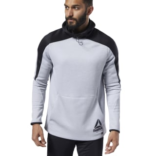 Bluza z kapturem One Series Training Full Zip Mgh Solid Grey / Black EC0980