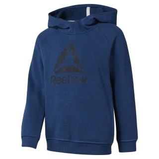 Boys Training Essentials Marbel Over The Head Hoody Bunker Blue DJ3073