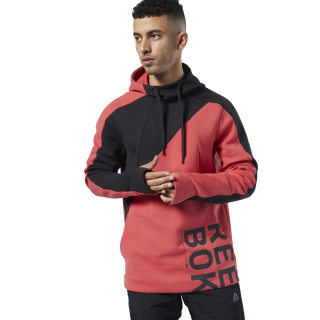 One Series Training Colorblock Hoodie Rebel Red EJ5984