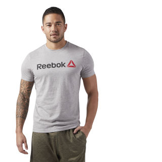 T-shirt avec inscription Reebok Medium Grey Heather CW5375