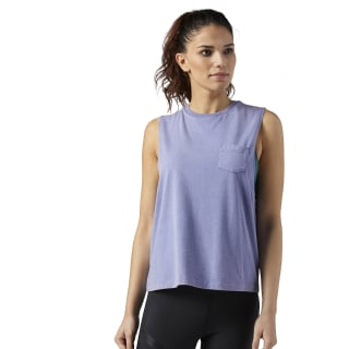 Stone Wash Muscle Tank Lilac Shadow BQ8141