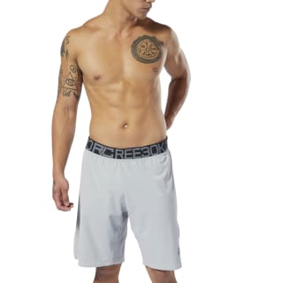 Short de boxe en toile Combat True Grey DQ1980