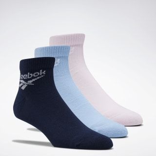 Classics Foundation Ankle Socks 3 Pairs Collegiate Navy / Fluid Blue / Posh Pink FL9596