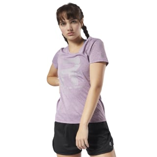 Running Reflective Graphic T-shirt Purple D78941